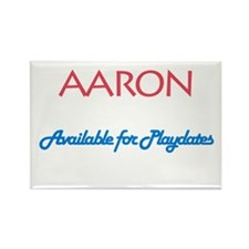 Aaron - Available for Playdat Rectangle Magnet