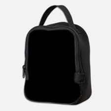 Simply Black Solid Color Neoprene Lunch Bag