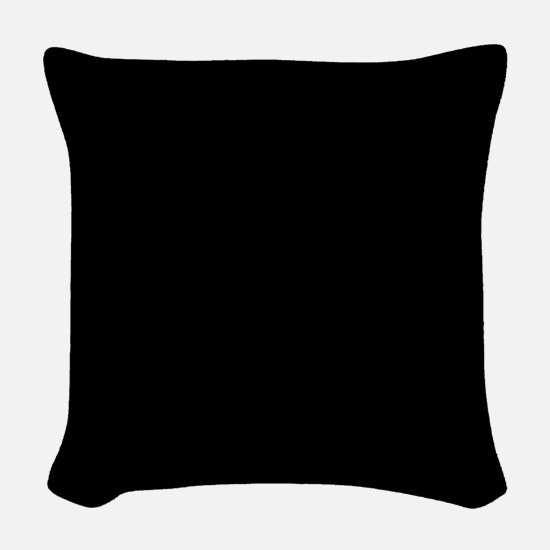 Simply Black Solid Color Woven Throw Pillow