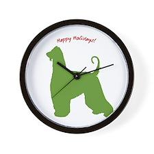 Happy Holidays! Wall Clock