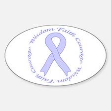 Faith Courage Wisdom Oval Bumper Stickers