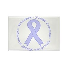 Faith Courage Wisdom Rectangle Magnet (10 pack)