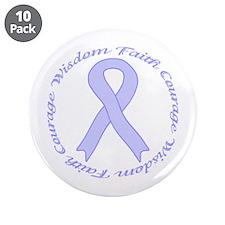 "Faith Courage Wisdom 3.5"" Button (10 pack)"