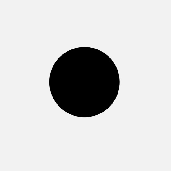 Simply Black Solid Color Mini Button (10 pack)