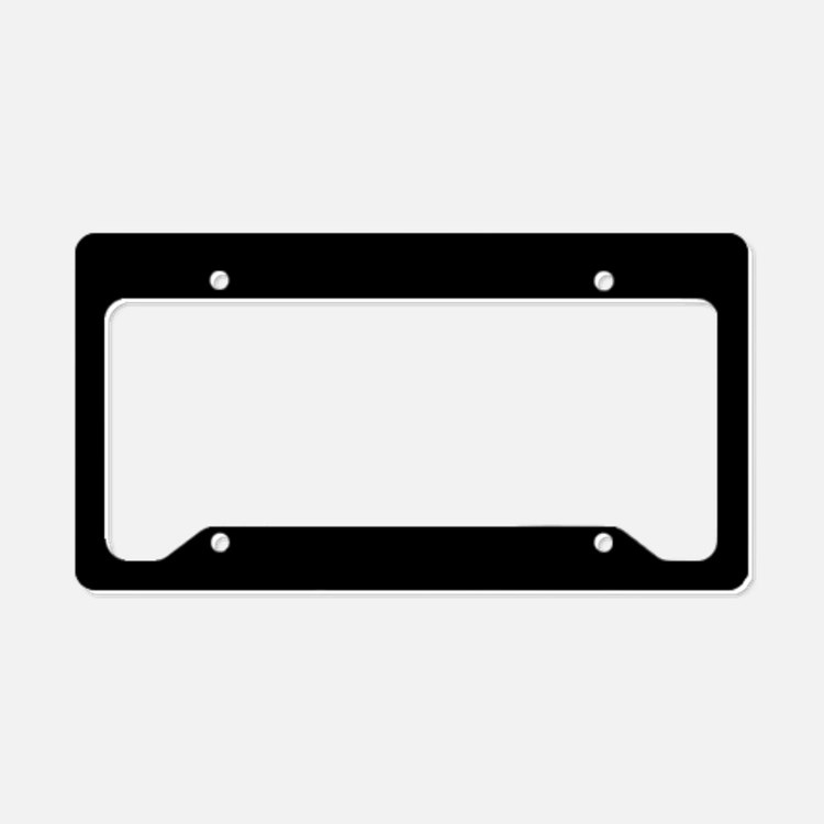 Simply Black Solid Color License Plate Holder