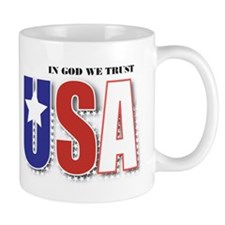 USA In God We Trust Mug