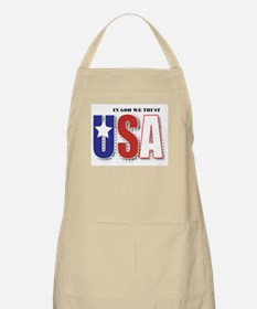 USA In God We Trust BBQ Apron