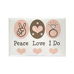Peace Love I Do Bride Rectangle Magnet (100 pack)