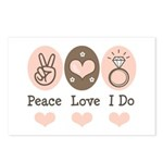 Peace Love I Do Bride Postcards (Package of 8)