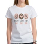 Peace Love I Do Bride Women's T-Shirt
