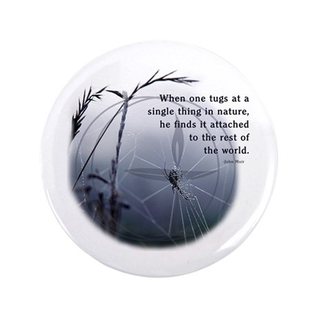 "UU - Web of Life 3.5"" Button"