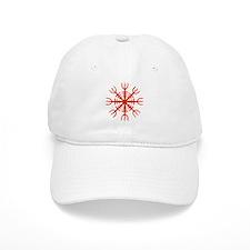 Red Aegishjalmur Baseball Cap