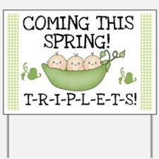 Coming This Spring Triplets Yard Sign