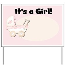 Carriage It's a Girl Yard Sign