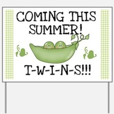 Twins Coming This Summer Yard Sign