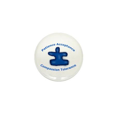 Autism Puzzle Piece Mini Button