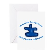 Autism Puzzle Piece Greeting Cards (Pk of 10)