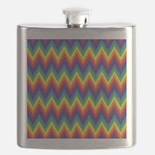 Rainbow Chevron Flask