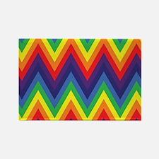 Rainbow Chevron Rectangle Magnet