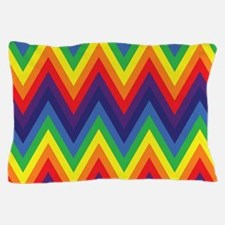 Rainbow Chevron Pillow Case
