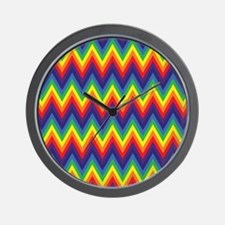 Rainbow Chevron Wall Clock