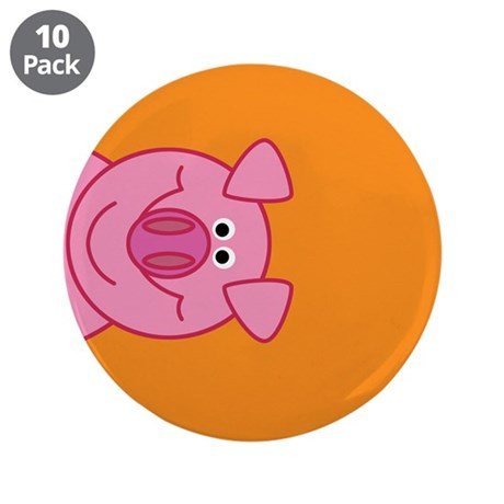 "Happy Pig 3.5"" Buttons (10 pack)"