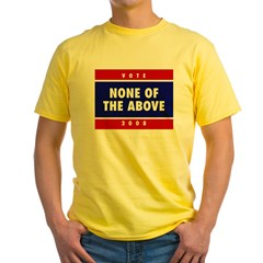 NONE OF THE ABOVE Yellow T-Shirt