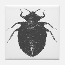 bat bug Tile Coaster