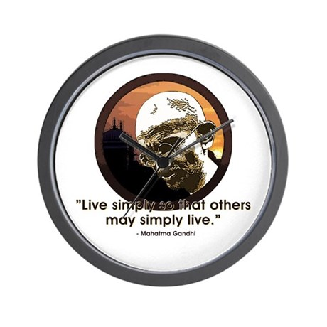 Gandhi - India - Live Simply Wall Clock
