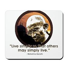 Gandhi - India - Live Simply Mousepad