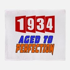 1934 Aged To Perfection Throw Blanket