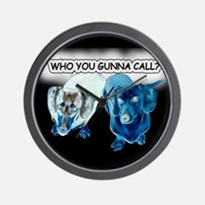 Who You Gunna Call Doxies Wall Clock