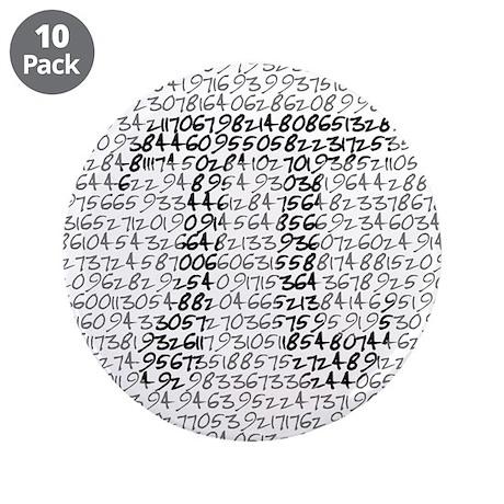 """MATH GEEK 3.5"""" Button (10 pack)"""