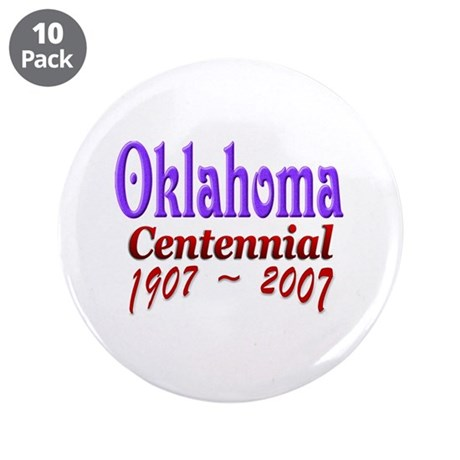 """Oklahoma 100 3.5"""" Button (10 pack)"""