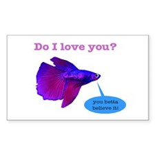 Betta Fish Rectangle Decal