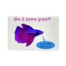 Betta Fish Rectangle Magnet
