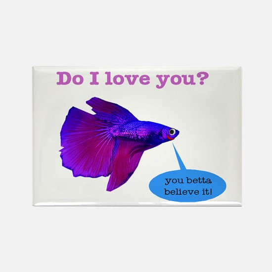 Betta Fish Rectangle Magnet