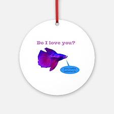 Betta Fish Ornament (Round)