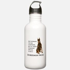 Doberman Mom Water Bottle