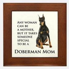 Doberman Mom Framed Tile