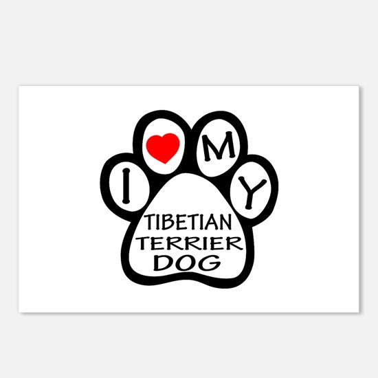 I Love My Tibetan Terrier Postcards (Package of 8)