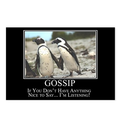 Gossip Postcards (Package of 8)