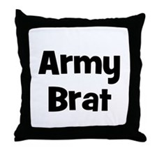 Army Brat Throw Pillow