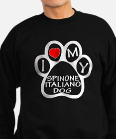 I Love My Spinone Italiano Dog Sweatshirt (dark)