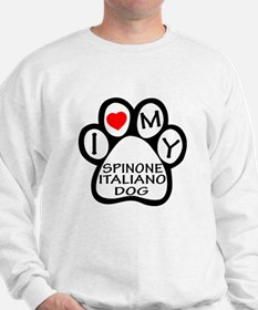 I Love My Spinone Italiano Dog Sweatshirt