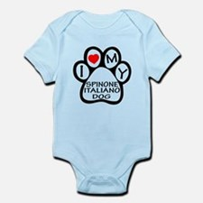 I Love My Spinone Italiano Dog Infant Bodysuit