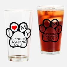 I Love My Spinone Italiano Dog Drinking Glass