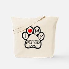 I Love My Spinone Italiano Dog Tote Bag