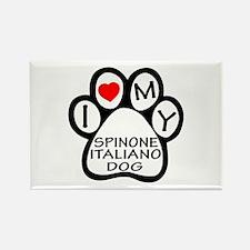 I Love My Spinone Italiano Dog Rectangle Magnet