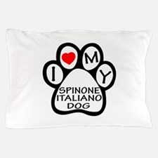 I Love My Spinone Italiano Dog Pillow Case